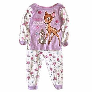 3/$15 Disney Baby Bambi 2 Piece Pajama Set